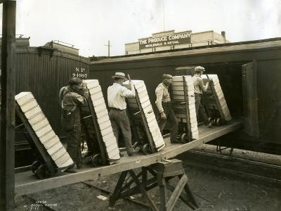 Loading Boxes of Cherries, Kenniwick, 1928-Asahel Curtis-Giclee Print