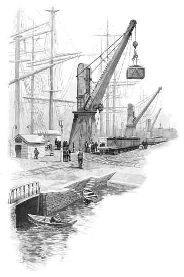 Loading Coal at Newcastle, New South Wales, Australia, 1886-WC Fitler-Giclee Print