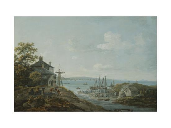 Loading Slate at Bangor Ferry-John Laporte-Giclee Print