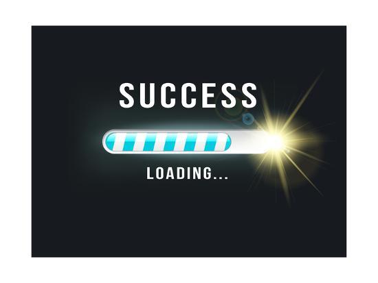 Loading.. Success- bymandesigns-Art Print