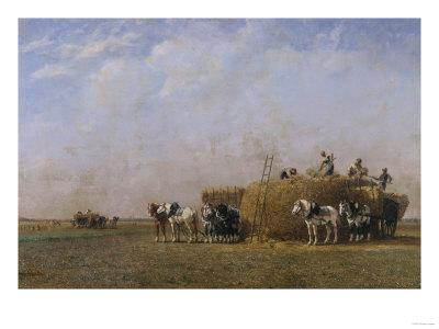 Loading the Hay Carts-Sir William Beechey-Giclee Print