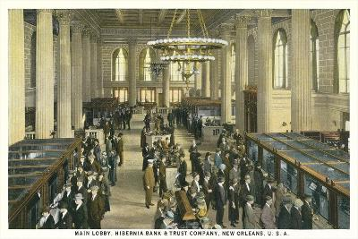 Lobby, Hibernia Bank and Trust, New Orleans--Art Print