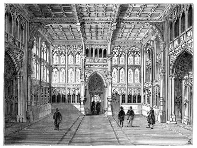 Lobby of the Houses of Commons, London, 1900--Giclee Print
