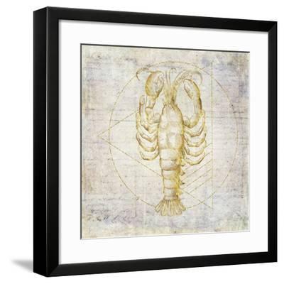 Lobster Geometric Gold-Ramona Murdock-Framed Art Print