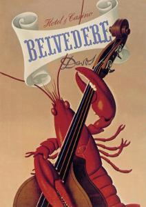 Lobster Musician at the Belvedere Hotel and Casino