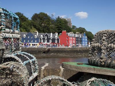 Lobster Pots in Tobermory, Mull, Inner Hebrides, Scotland, United Kingdom, Europe-David Lomax-Photographic Print