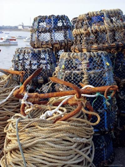 Lobster Pots, Normandy, France-Michael Busselle-Photographic Print