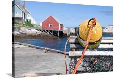 Lobster trap at Peggy's Cove--Stretched Canvas Print