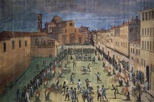 Local Festivities in Piazza Santo Spirito in Florence