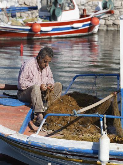 Local Fisherman, Ormos Marathokampos, Samos, Aegean Islands, Greece-Stuart Black-Photographic Print