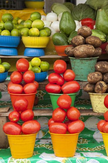 Local Fruit and Vegetables at a Market in San Juan Chamula, Mexico-Michel Benoy Westmorland-Photographic Print