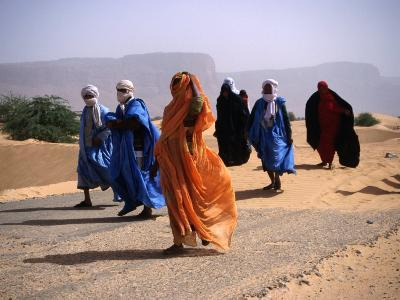 Local People Travel the Road Between Nouadhibou and Mouackchott, Mauritania-Jane Sweeney-Photographic Print