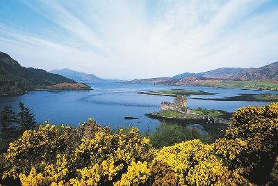 Loch Duich and Eilean Donan Castle, Scotland, UK--Photographic Print