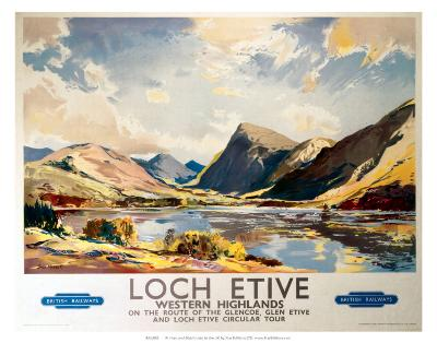 Loch Etive, Western Highlands, BR(ScR), c.1948-1965--Art Print