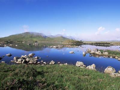 Lochan Na H-Achlaise, Rannoch Moor, Black Mount in the Background, Highland Region, Scotland-Lousie Murray-Photographic Print