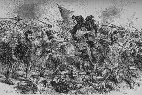 'Lochiel's Charge at Killycrankie', 27 July 1689, (c1880)-Unknown-Giclee Print