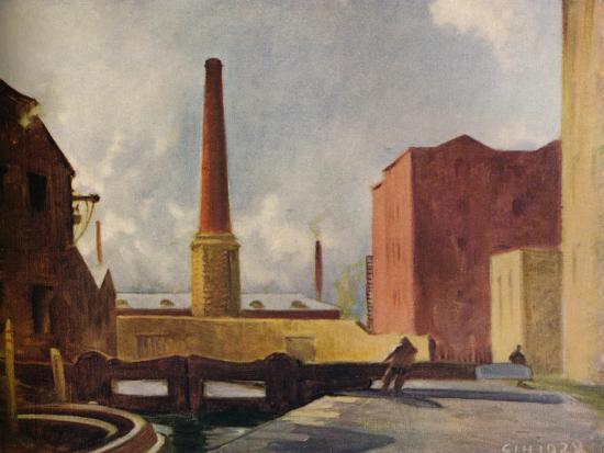 'Lock Gates, Blackburn', 1928 (1931)-Charles John Holmes-Giclee Print