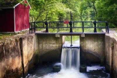 Lock on the D & R Canal, New Jersey-George Oze-Photographic Print