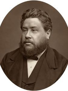 Reverand Charles Haddon Spurgeon, Pastor of the Metropolitan Tabernacle, 1880 by Lock & Whitfield