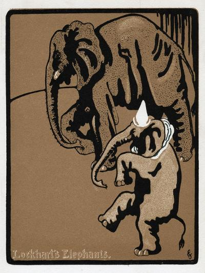 Lockhart's Elephants, 19th Century--Giclee Print