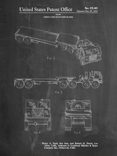 Lockheed Ford Truck and Trailer Patent-Cole Borders-Art Print