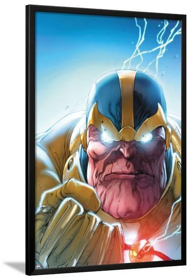 Lockjaw and The Pet Avengers No.4 Headshot: Thanos-Ig Guara-Lamina Framed Poster