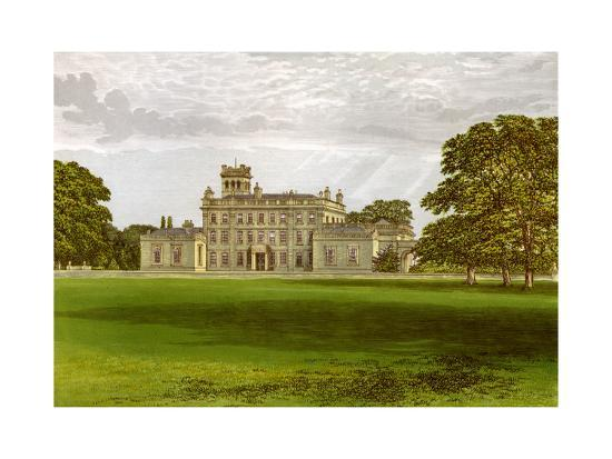 Locko Park, Derbyshire, Home of the Drury-Lowe Family, C1880-AF Lydon-Giclee Print