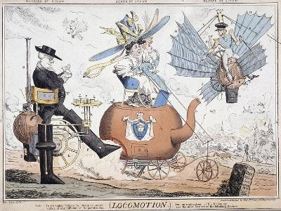 Locomotion, London, C1820-George Cruikshank-Giclee Print