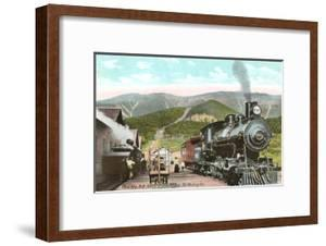 Locomotive at Base of Mt. Washington, New Hampshire