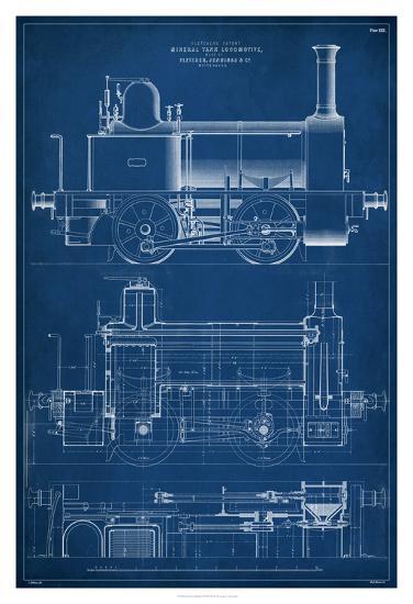 Locomotive Blueprint II-Vision Studio-Giclee Print