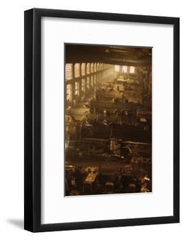 Locomotive Factory Floor-null-Framed Art Print