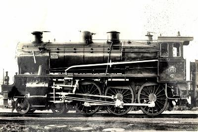 Locomotive Francaise, P.O. Midi, Machine No 4203--Giclee Print