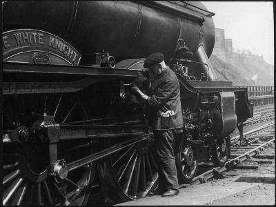Locomotive Maintenance--Photographic Print