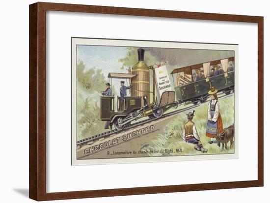 Locomotive of the Rigi Mountain Railway, Switzerland, 1871-European School-Framed Giclee Print