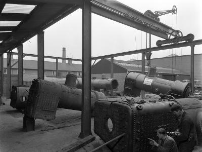 Locomotive Repairs, Doncaster, South Yorkshire, 1959-Michael Walters-Photographic Print