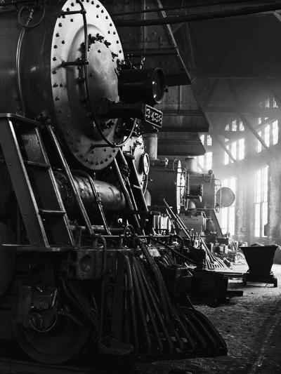 Locomotives in Roundhouse-Jack Delano-Photographic Print