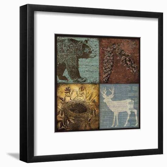 Lodge 4 Patch III-Stephanie Marrott-Framed Giclee Print