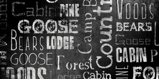 Lodge Words Mate-Jace Grey-Art Print