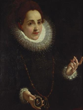 Portrait of a Lady Holding a Portrait Miniature of a Gentleman