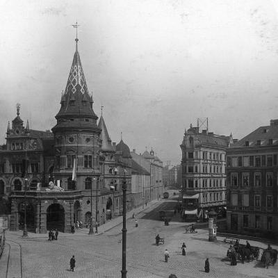 Löwenbräu Keller and Stiglmaierplatz, Munich, Germany, C1900s-Wurthle & Sons-Photographic Print