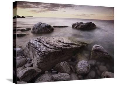 Log dump beach, Bruce Peninsula National Park, Ontario, Canada-Tim Fitzharris-Stretched Canvas Print