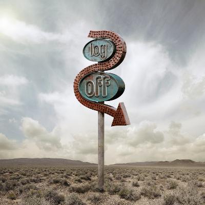 Log off Neon in the Desert-Miguel Navarro-Photographic Print