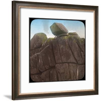 Logan Rock, Near Treen, Cornwall, Late 19th or Early 20th Century--Framed Giclee Print