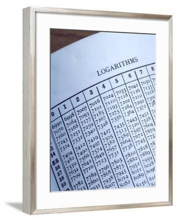 Logarithm Table-Sheila Terry-Framed Photographic Print