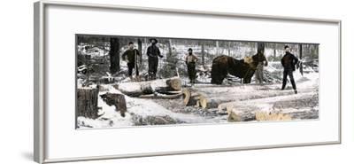 "Loggers Using a ""Go-Devil"" Sledge in Minnesota, 1890s"