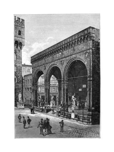 Loggia Del Lanzi, Piazza Della Signoria, Florence, Italy, 1882--Giclee Print