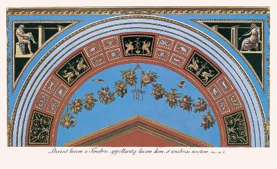 Loggia in the Vatican III (detail)-Raphael-Art Print