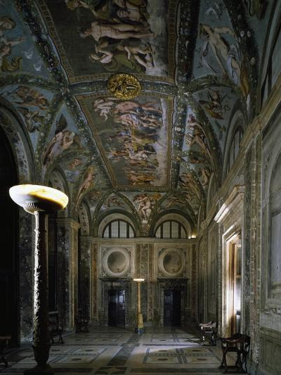Loggia of Cupid and Psyche with Fresco Cycle Stories of Cupid and Psyche-Raffaello Sanzio-Giclee Print