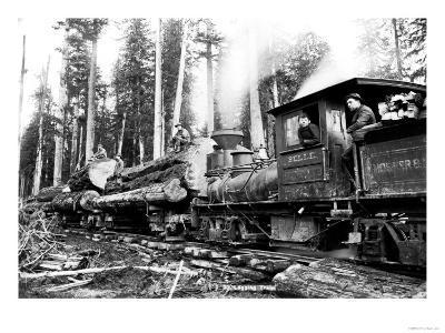 Logging Train-Clark Kinsey-Art Print