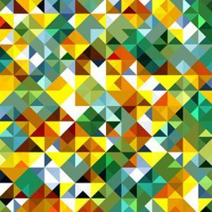 Seamless Pattern Of Geometric Shapes by Login